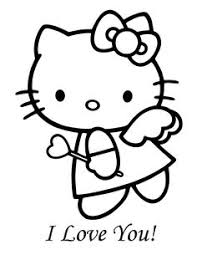 kitty valentine coloring pages free printable coloring