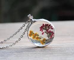 flower necklace wedding images Pressed flower necklace real flower glass necklace heather jpg