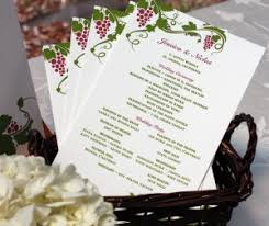 personalized wedding programs custom and personalized wedding programs letterpress wedding