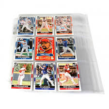 photo album pages 3 ring ultra pro 9 pocket baseball card 3 ring album pages 10 pack