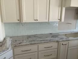 modern home interior design kitchen backsplash glass tile green