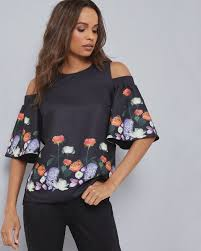 shoulder cut out blouse s tops t shirts designer blouses tops for ted