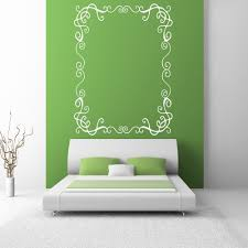 frames wall stickers iconwallstickers co uk rectangular decorative frame wall stickers home border decor art decals