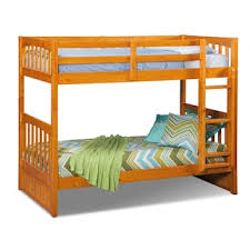 ranger twin over full bunk bed merlot american signature furniture