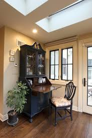 Kitchen Desk With Hutch Black Desk With Hutch Kitchen Traditional With Crown Molding