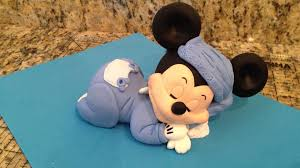mickey minnie cake topper mickey mouse sleeping cake topper complete tutorial on our