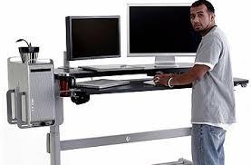 sit stand computer desk stand up desks splice now