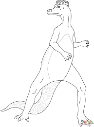 hadrosaurus coloring page free printable coloring pages
