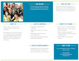 new retail campaign coalition brochure template tobacco