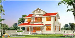 home design sq ft double floor house plans in kerala with estimate