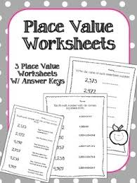 place value worksheets math centers assessment expanded form