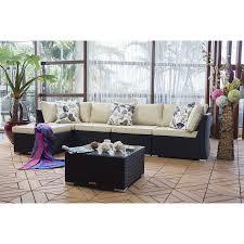 nadi wicker 6 piece sectional sofa set