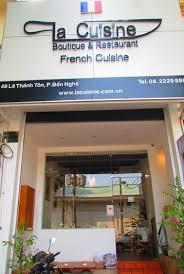 la cuisine restaurant the japanese area along le thanh ton