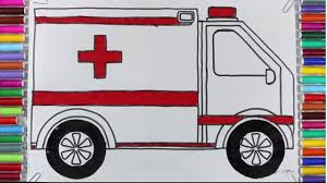 how to draw and coloring a cartoon ambulance ambulance coloring