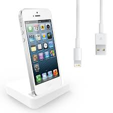 Iphone 5 Desk Stand by Charging Dock Desktop Stand Docking Station Charger Cable For