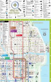 Chicago Bus Routes Map by Chicago Maps Top Tourist Attractions Free Printable City