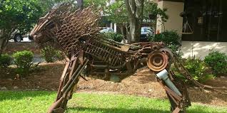 metal lion sculpture metal lion sculpture purchase howell turner center for