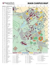 University Of Virginia Campus Map by Virginia Tech Maplets