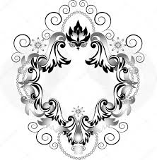 Vintage Ornaments by Vintage Ornament For Frame Banner U2014 Stock Vector Tatyanamh 7591470
