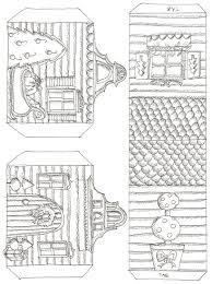 printable model house template 100 little paper villages mega list thrifty scissors