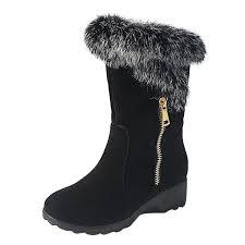 s boots wedge toe wedge heels winter fur boots azbro com