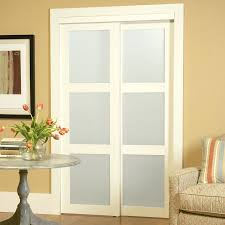 Frosted Glass Sliding Closet Doors Closet 36 Inch Sliding Closet Doors Shop 3 Lite Frosted Glass