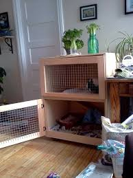 Rabbit Hutch Set Up Build An Indoor Rabbit Cage 9 Steps With Pictures