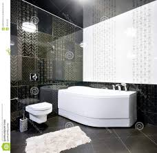 black and white bathroom floor tile white stained wooden framed