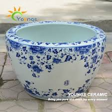 beautiful large chinese blue and white ceramic planters buy blue