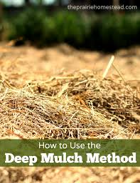 What Kind Of Mulch For Vegetable Garden by How To Use The Deep Mulching Method In Your Garden U2022 The Prairie