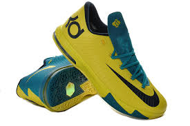 nike kd 6 gs seat pleasant yellow teal for sale