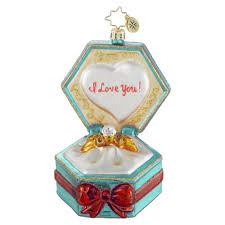 christopher radko personalized wedding ornament happily after