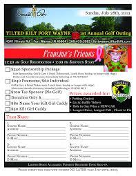 Golf Tournament Sign Up Sheet Template Francine S June 2013