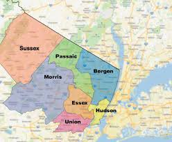 Map Of Hudson County Nj Anderson Service Area Map Of Anderson Service Area With Counties
