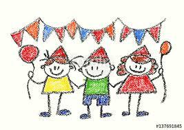 children or birthday celebration drawing