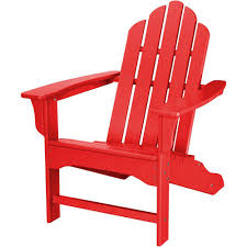 Adirondack Chair Plans Home Depot Hanover All Weather Patio Adirondack Chair In Sunset Red Hvlna10sr