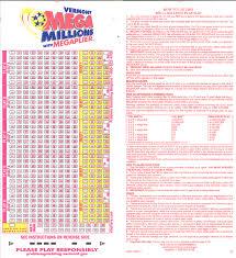 Mega Millions Payout Table Vermont Mega Millions Winning Numbers Vermont Lottery