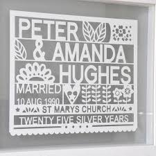 25 wedding anniversary gifts wedding 25th wedding anniversary gifts traditional silver for