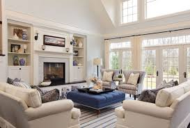Loveseat With Ottoman Living Room Blue Ottoman With Wooden Tray White Loveseat Sofa