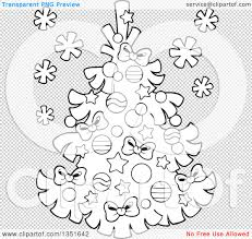 clipart of a cartoon black and white christmas tree royalty free