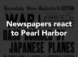 newspapers react to pearl harbor attack connecticut post