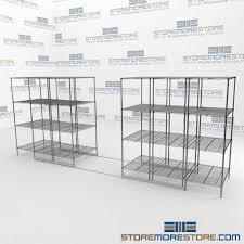 Metal Wire Shelving by Moving Steel Wire Shelves Ada Gliding Wire Shelf Industrial