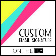 email signatures u2013 on the fly