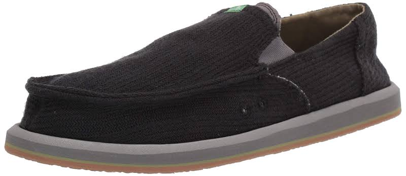 Sanuk Pick Pocket Hemp Shoes Black- Mens