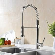 pull kitchen faucet brushed nickel gicasa soft commercial style single handle stainless steel pre