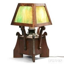 Arts And Crafts Desk Lamp Search All Lots Skinner Auctioneers