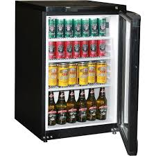 dellware dw j85 bar fridge glass door commercial quality