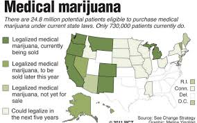 Medical Marijuana Legal States Map by Medical Marijuana Industry Rapidly Grows Mainstream Mcclatchy