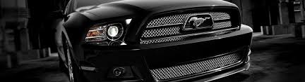 2014 Black Mustang 2014 Ford Mustang Custom Grilles Billet Mesh Led Chrome Black