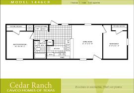 1 bedroom trailer cavco homes floor plan bedroom bath single wide kaf mobile plans 2